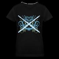 Women's T-Shirts ~ Women's V-Neck T-Shirt ~ Flute Music Grunge Womens T-shirt