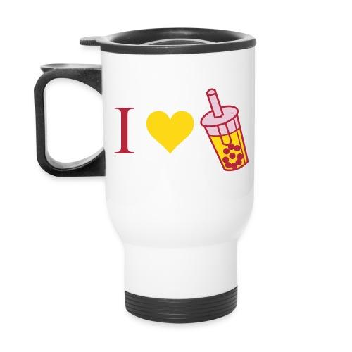 Boba Mug (Pink and Yellow) - Travel Mug