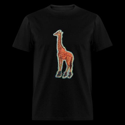 Giraffe Roller Skater - Men's T-Shirt