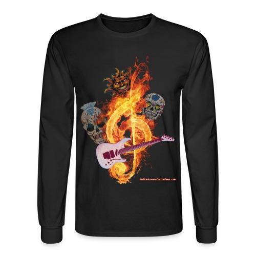 Guitar-FireClef - long sleeve - Men's Long Sleeve T-Shirt