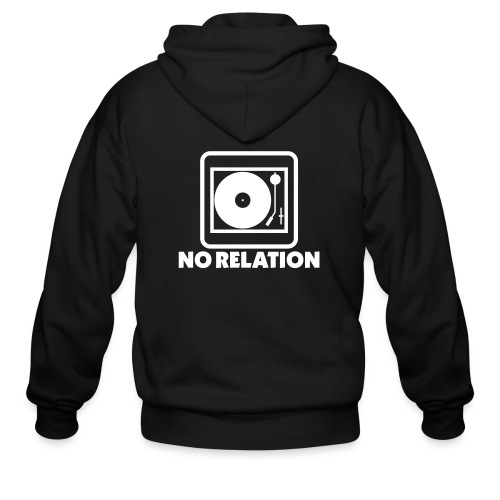 No Relation ZIp Up Hoodie - Logo on Back (Black) - Men's Zip Hoodie