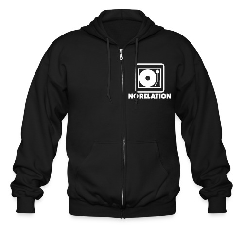 No Relation Zip Up Hoodie - Logo on Front (Black) - Men's Zip Hoodie