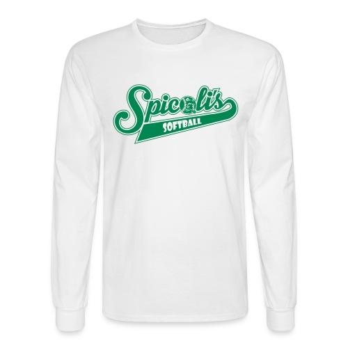 Spicoli's Softball Long Sleeve Shirt (White) - Men's Long Sleeve T-Shirt