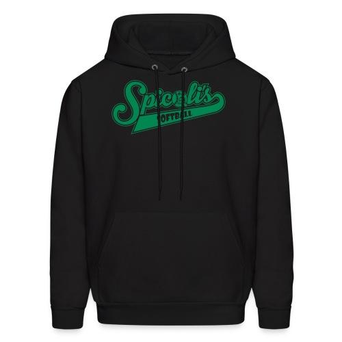 Spicoli's Softball Lightweight Hoodie (Black) - Men's Hoodie