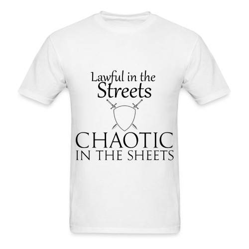 Lawful in The Sheets, Chaotic in The Sheets. (Mens) - Men's T-Shirt