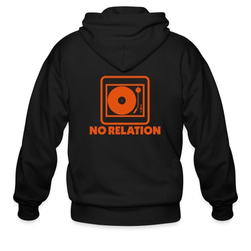 No Relation ZIp Up Hoodie - Logo on Back (Navy) - Men's Zip Hoodie