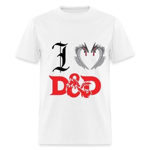 I Love D&D (Mens) - Men's T-Shirt