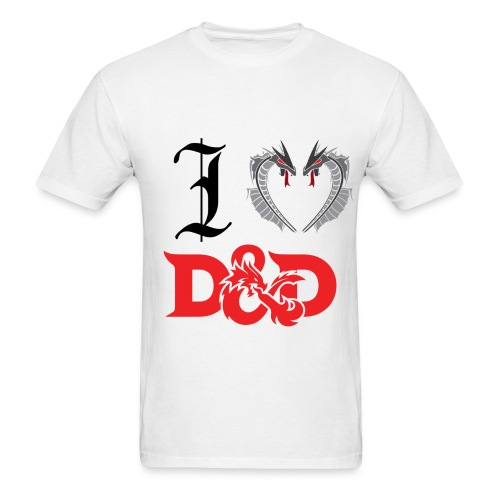 I Love D&D (Mens) - Men's T-Shirt