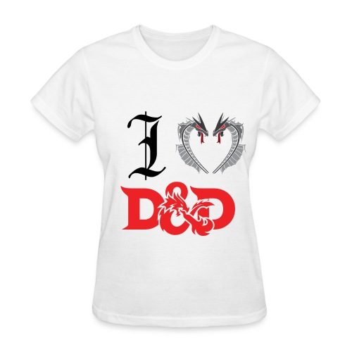 I Love D&D (Womens) - Women's T-Shirt
