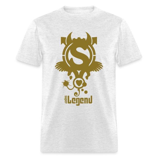 SUPERLEGEND MAN - front print gold - s/xxl - multi colors
