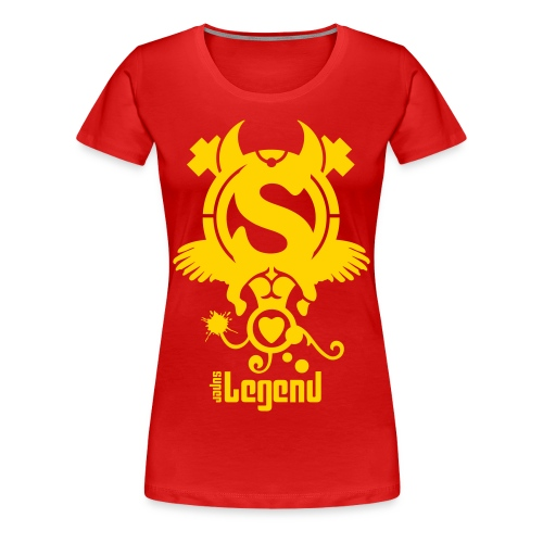 SUPERLEGEND WOMAN - front print - s/3xl - multi colors - Women's Premium T-Shirt
