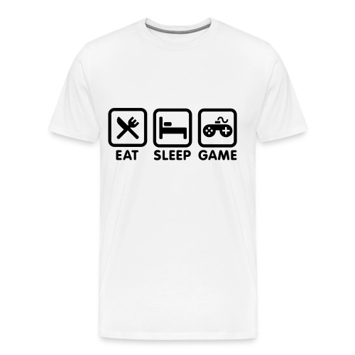 Eat, Sleep, Game - Men's Premium T-Shirt