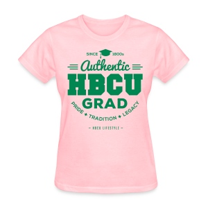 HBCU Grad Shirt - Women's Pink and Green T-shirt - Women's T-Shirt