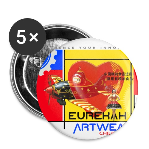 CHILDHOOD HEROES - 56 mm (2,25)  - Buttons large 2.2'' (5-pack)
