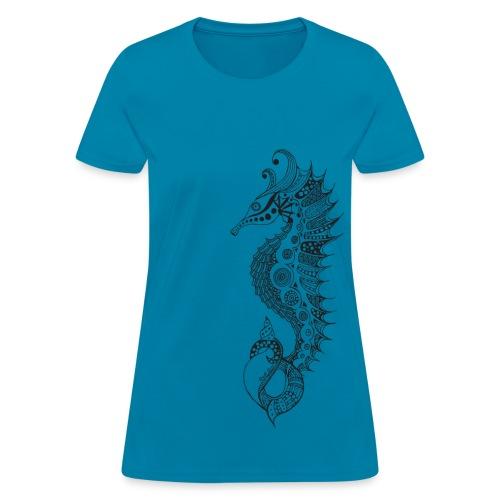 South Seas Tribal Seahorse Women's T-Shirt - Women's T-Shirt