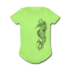 South Seas Babies Sea Horse one piece - Short Sleeve Baby Bodysuit