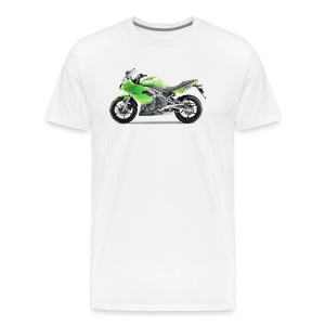 Kaw ER6f Ninja650 2010+ cracked - Men's Premium T-Shirt