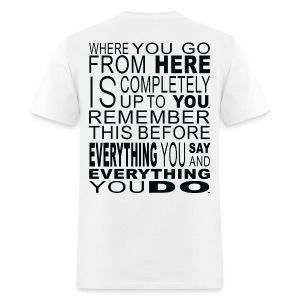 Fork Shirt White - Men's T-Shirt