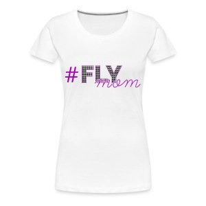 #FLYmom Tee - purple - Women's Premium T-Shirt