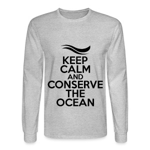 Keep Calm and Conserve the Ocean - Men's Long Sleeve T-Shirt - Men's Long Sleeve T-Shirt