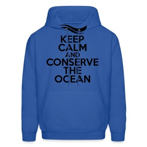 Keep Calm and Conserve the Ocean - Men's Hooded Sweatshirt - Men's Hoodie