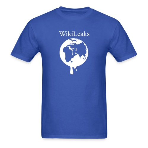 WikiLeaks - Dripping Globe - Men's T-Shirt
