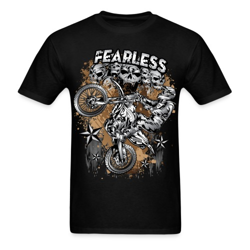 Fearless Motocross White - Men's T-Shirt