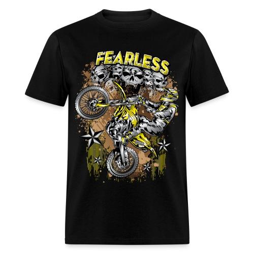 Fearless Motocross Yellow - Men's T-Shirt