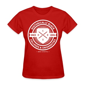 Historically Black - Women's Red and Ivory T-shirt - Women's T-Shirt