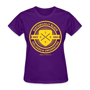 Historically Black - Women's Purple and Gold T-shirt - Women's T-Shirt
