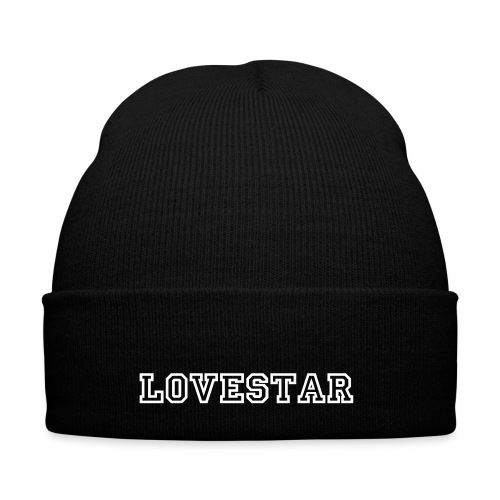 Love Star - Capped - Knit Cap with Cuff Print