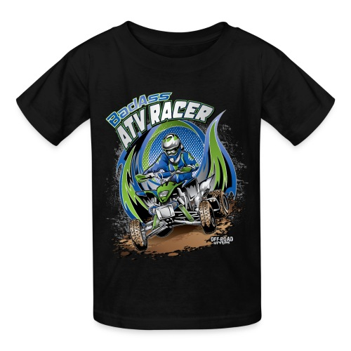 Badass ATV Racer - Kids' T-Shirt