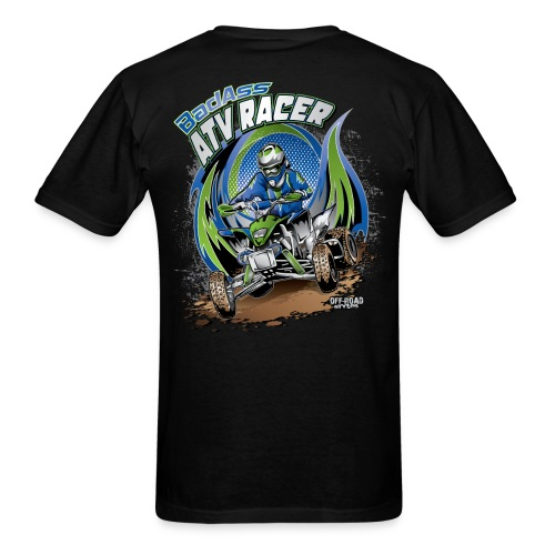 Badass ATV Racer BACK - Men's T-Shirt