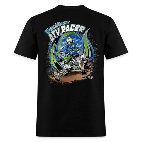 Badass ATV Racer BACK - Men's T-Shirt