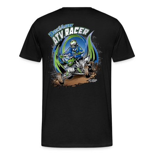 Badass ATV Racer BACK - Men's Premium T-Shirt