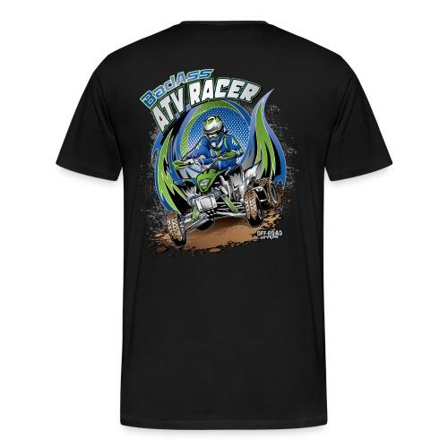 Badass ATV Racer BACK - Men's Premium T-Shirt