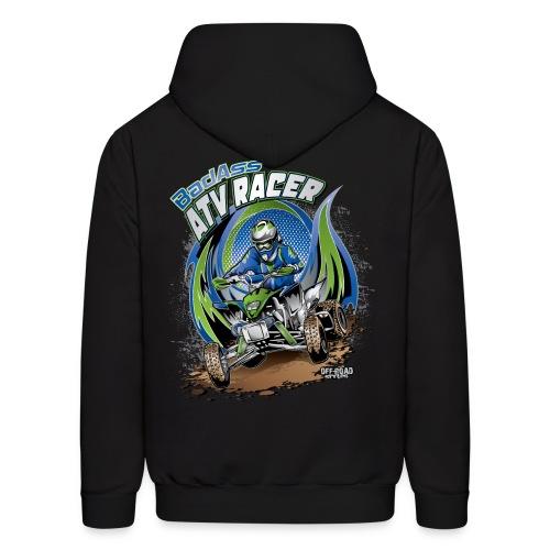 Badass ATV Racer BACK - Men's Hoodie