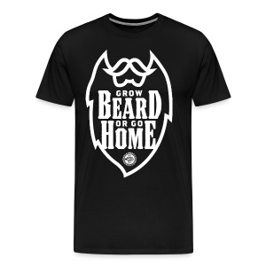 GROW BEARD... - Men's Premium T-Shirt