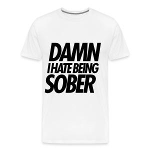 Sober Mens Tee - Men's Premium T-Shirt