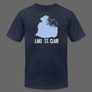 Just Lake St. Clair - Men's T-Shirt by American Apparel