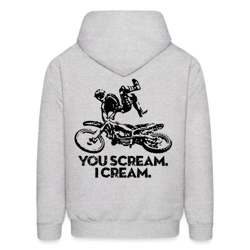 Motocross Scream Cream BACK - Men's Hoodie