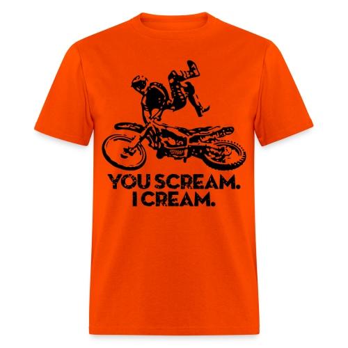 Motocross Scream Cream - Men's T-Shirt