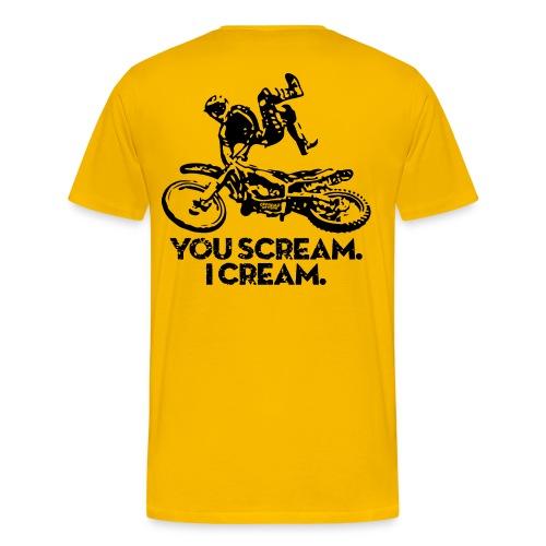 Motocross Scream Cream BACK - Men's Premium T-Shirt