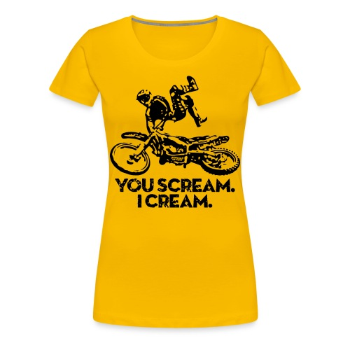 Motocross Scream Cream - Women's Premium T-Shirt
