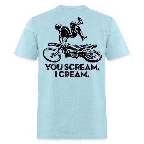 Motocross Scream Cream BACK - Men's T-Shirt