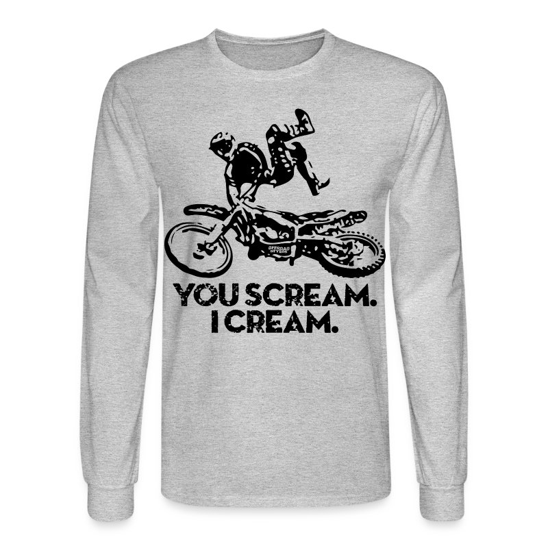 FMX Dirtbike Scream Cream T-Shirt | Spreadshirt
