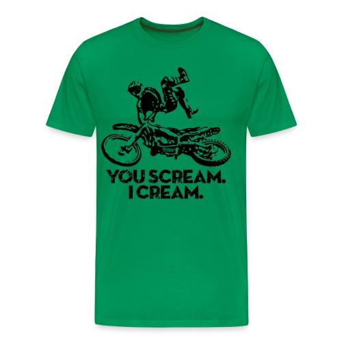 Motocross Scream Cream - Men's Premium T-Shirt