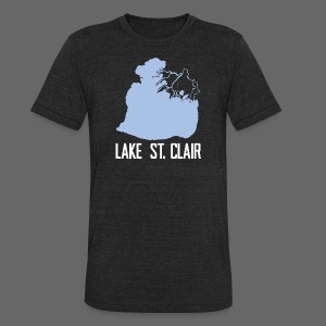 Just Lake St. Clair - Unisex Tri-Blend T-Shirt by American Apparel