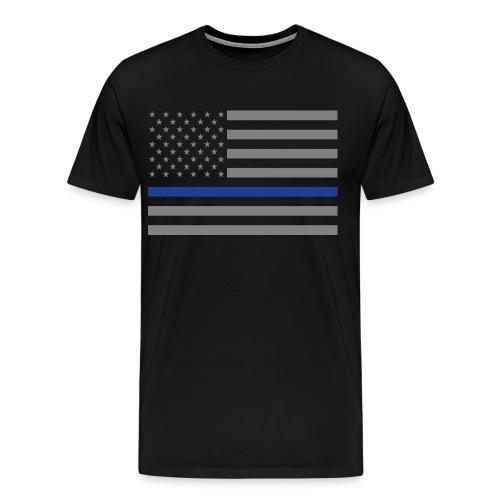 Thin Blue Line USA Flag Tee - Men's Premium T-Shirt
