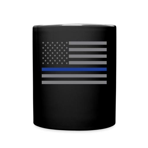 Thin Blue Line USA Flag Mug - Full Color Mug